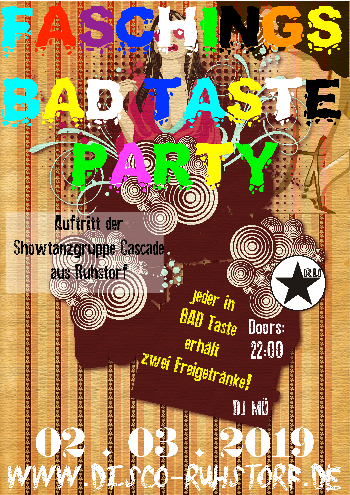 Flyer BadTasteParty 2019